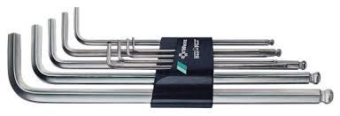 Unbraconøglesæt 1,5-10mm Wera lang m/kugle