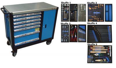 BATO Værktøjsvogn 7 skuffer og skab XXL 231 dele.
