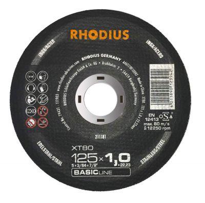 Skæreskive Ø125X1,0 XT80 Rhodius - Tysk kvalitets skive