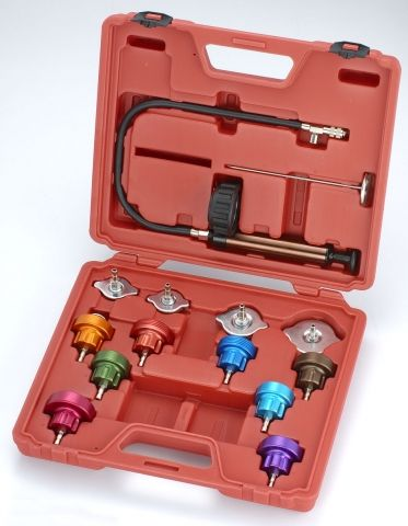 Køletestersæt universal 14 dele med pumpe