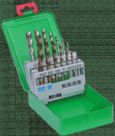 Bor/Snittap Sæt HSS Co5 3-12mm DJ Tools