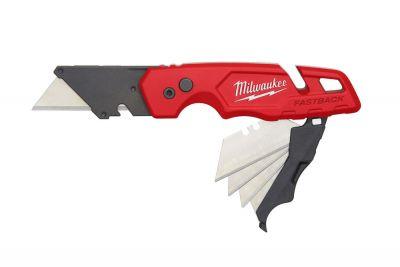 Kniv med flipfunktion + bladholder Fastback Milwaukee