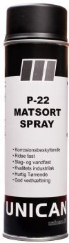 Spray maling P-22 Matsort 500ml UNICAN
