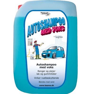 Autoshampoo m. voks Besma