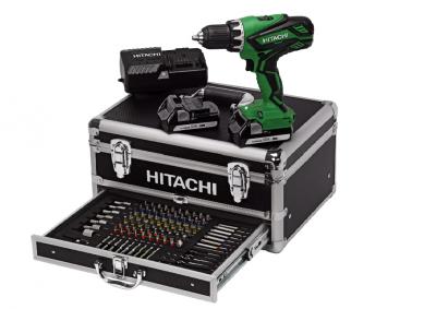 Akku Boremaskine 2x1,5Ah i Alukuffert m/100dele Hitachi DS18DJL