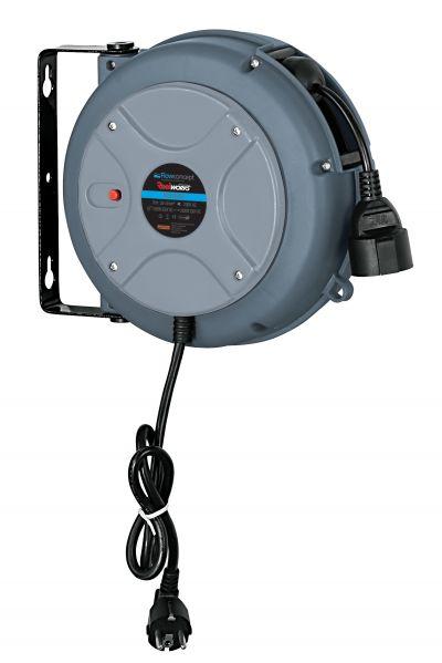Aut. kabelopruller IP42 3x1,5mm2 x 10m FlowConcept