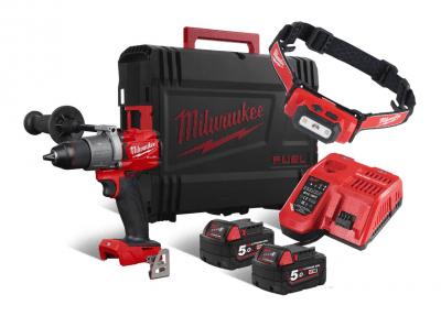 Slagboremaskine M18 FPD2-502X Fuel Milwaukee + Gratis pandelampe!