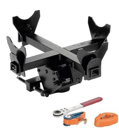 Gearkasseværktøj Compac kan justeres for optimal positionering og sikker håndtering af gearkasser
