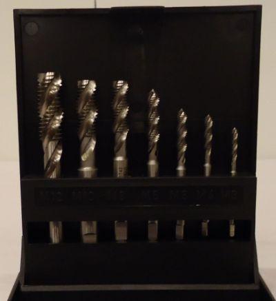 Gevindskæresæt 3-12mm spiraltappe HSS Völkel